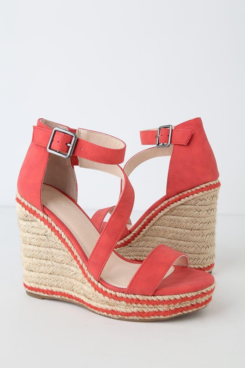 Red Wedge Heels