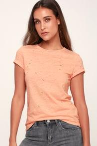 1ba00fc7 Cute Yellow Tee - Tulip Sleeve Tee - V-Neck Tee - Yellow T-Shirt