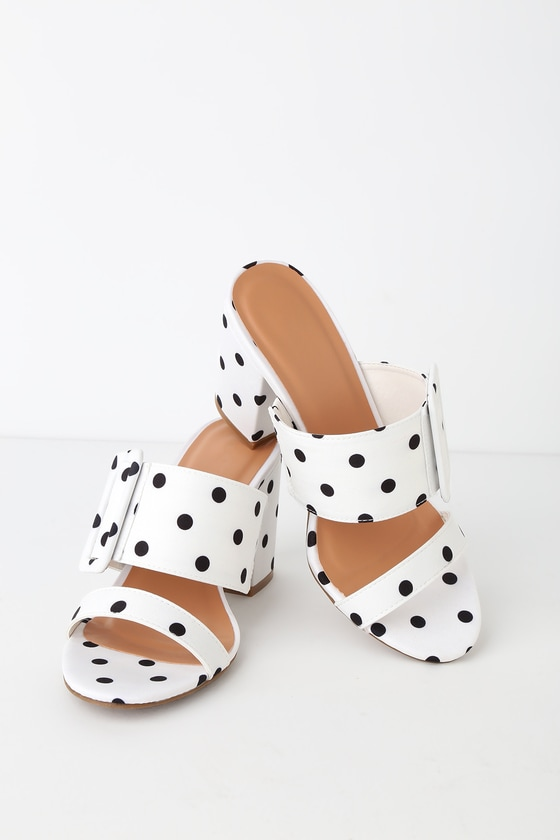 Polka Dot Heels - High Heel Sandals