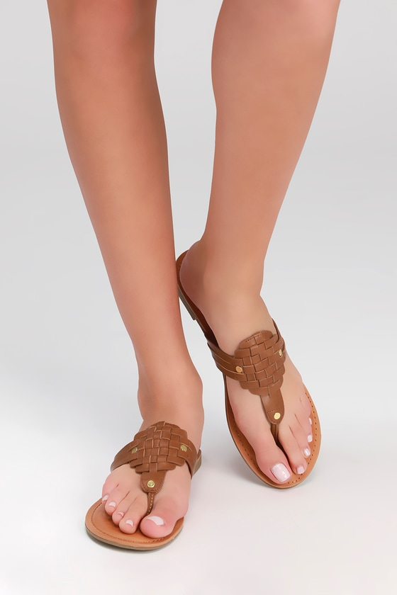 0b5b056fc89 Report Ginger - Tan Sandals - Thong Sandals -