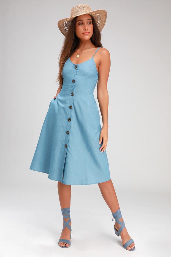 Blue Short Dress with Rhinestones
