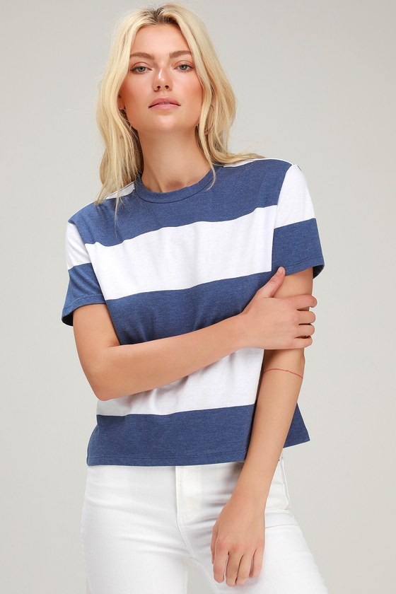 1832c3cc01d Z Supply The Venice Crew Tee - Striped Cropped Tee - Striped Tee