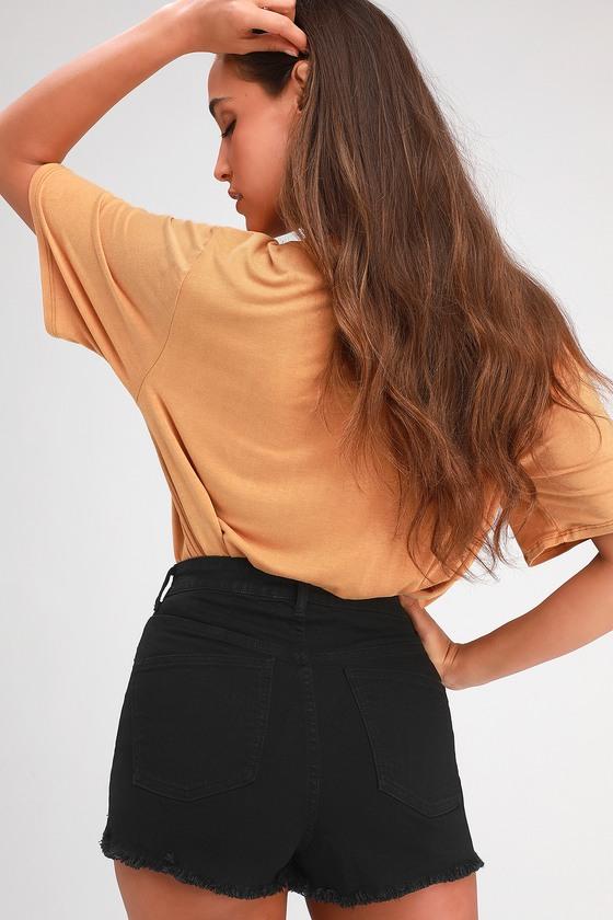 20fd11baad Jack by BB Dakota Down to Business - Black Denim Shorts - Shorts