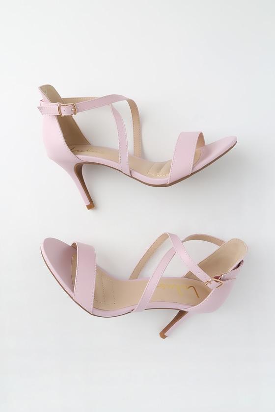 Collins Blush High Heel Sandals by Lulus
