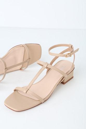 1384a8294 Vera Nude Strappy High Heel Sandals