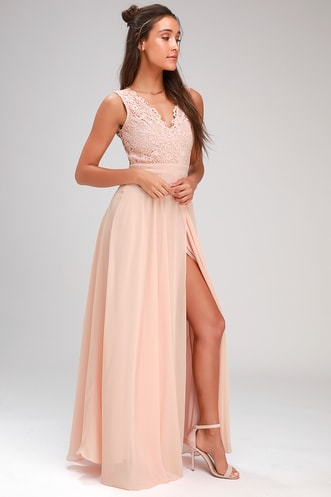 a3d6dabecb5 Do Re Mi Blush Pink Lace Backless Maxi Dress