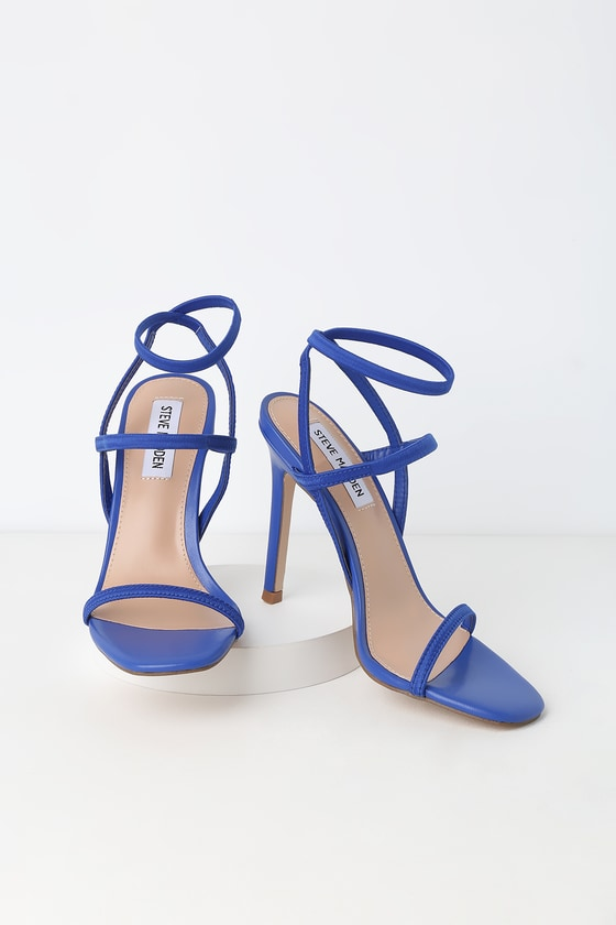 Steve Madden NECTUR BLUE HIGH HEEL SANDALS