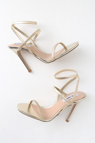 a67f35ba15df Nectur Gold High Heel Sandals