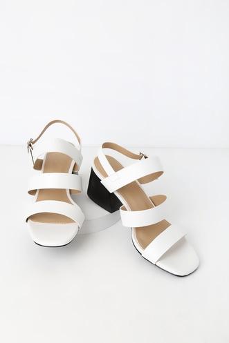 a3d701b19 Galaxy 2 White High Heel Sandals