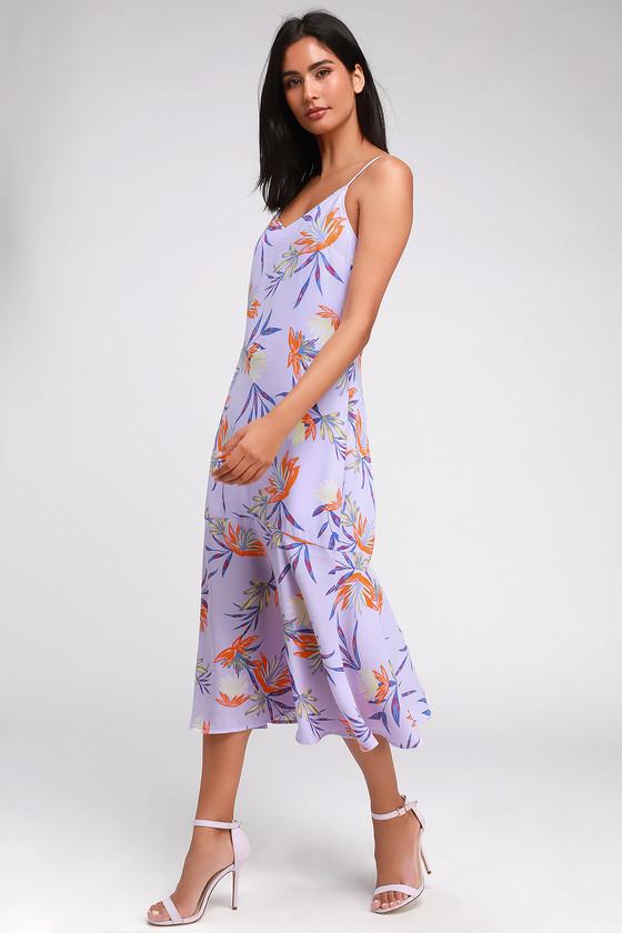 c3d414c44af0 Cute Midi Dress - Floral Print Midi Dress - Trumpet Hem Dress