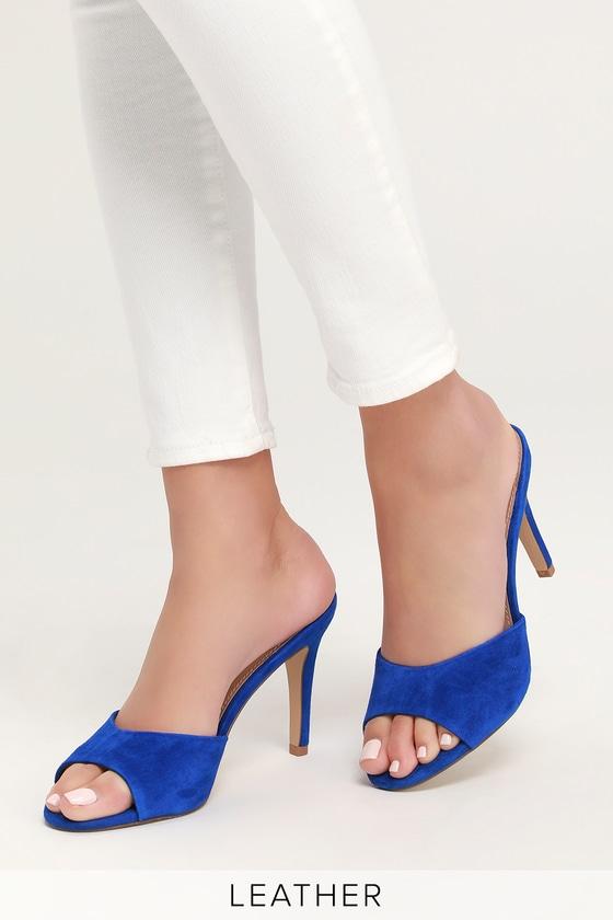 7b4ec63798fb Steve Madden Erin - Cobalt Blue Heels - Cobalt High Heel Sandals