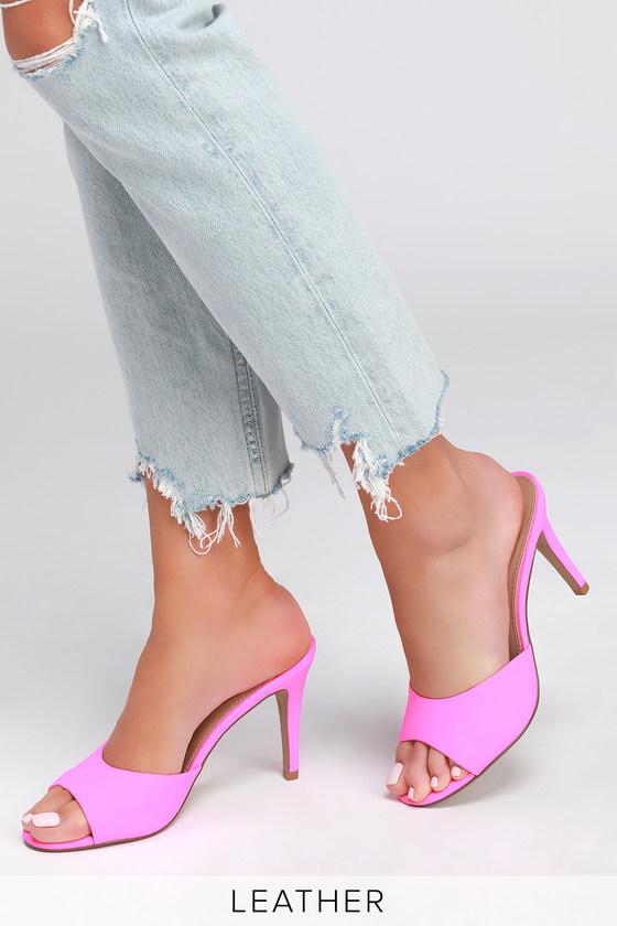 082c6af33a6 Erin Pink Neon High Heel Sandals