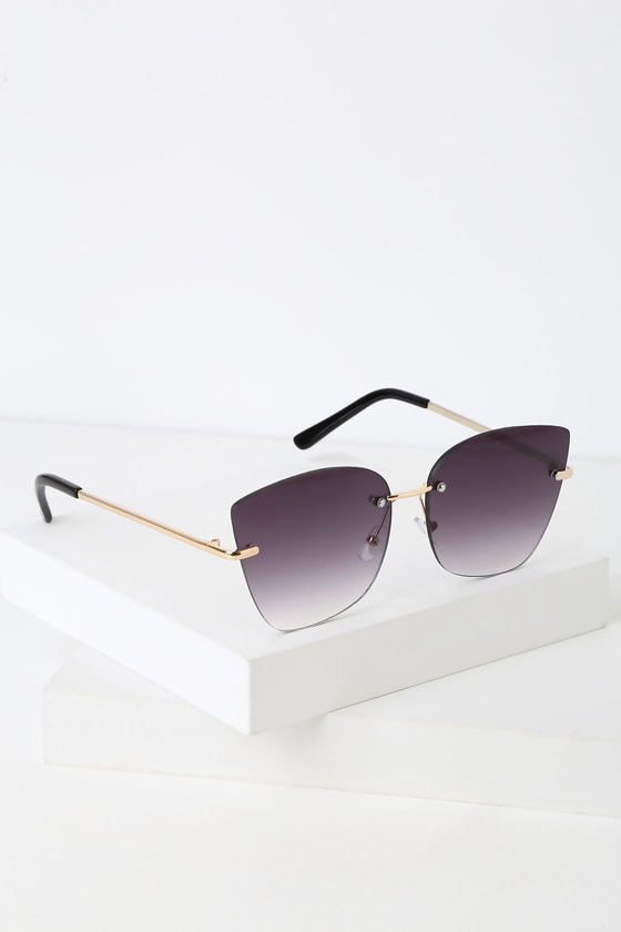 fab43a0fbd8b Cool Black Sunglasses - Frameless Sunglasses - Black Sunnies