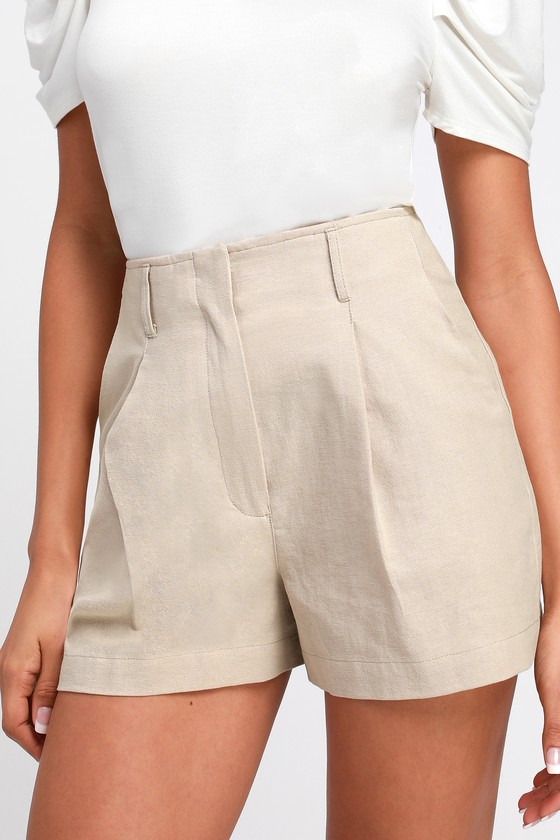 d3fc6fef86 1950s Shorts History | Summer Clothing Saige Beige High-Waisted Shorts -  Lulus $38.00 AT
