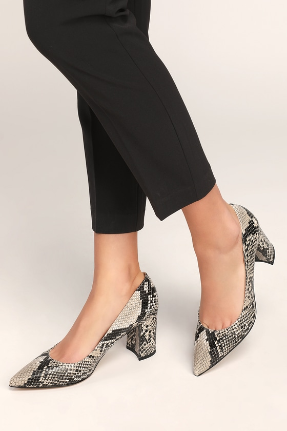 72f261b6364 Claire 2 Black Multi Snake Pointed-Toe Pumps