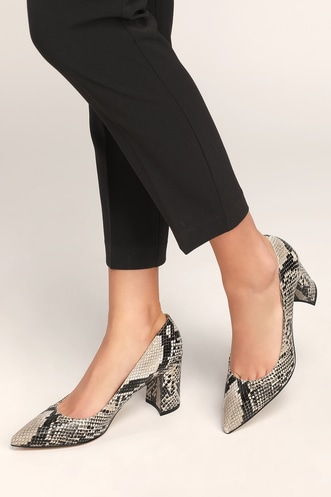 07cd76ad461 Claire 2 Black Multi Snake Pointed-Toe Pumps