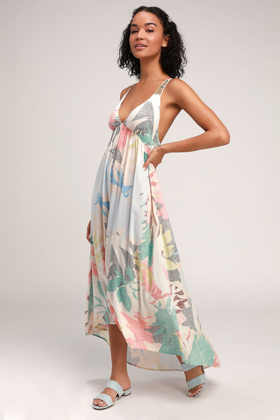ce25bf0592 O'Neill Kaitlyn - Multi Print Maxi Dress - Strappy Backless Maxi