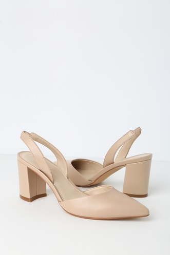 b32e12a527f1 Cup 4 Light Natural Pointed Toe Slingback Pumps