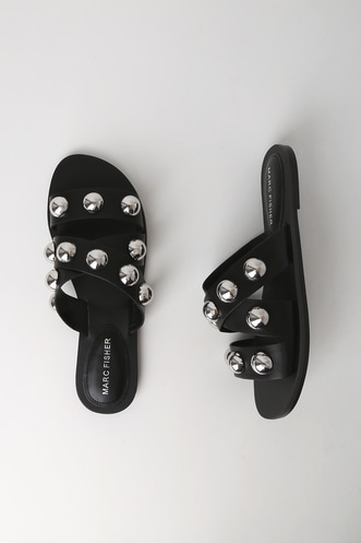 05476f1ff Bryte Black Studded Slide Sandals