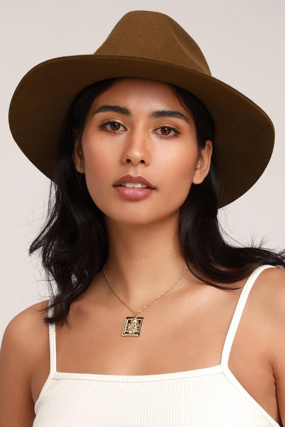 2ba7c1a321ed6 Brixton Wesley Hat - Coffee Brown Hat - Wool Fedora Hat