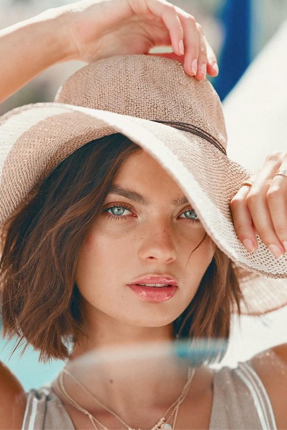 c29376410c8b0 Cute Beige Hat - Floppy Hat - Straw Hat - Sun Hat