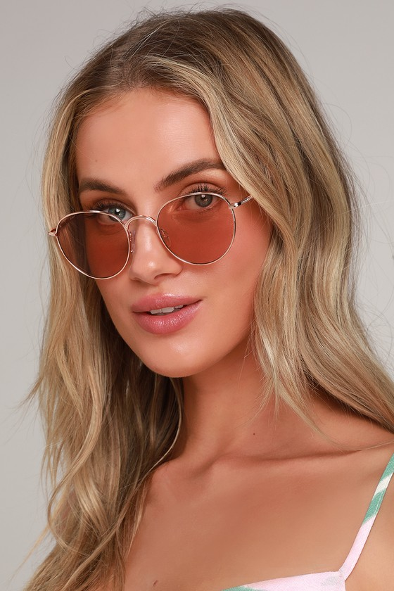 b52c35e65798 Cute Rose Gold Sunnies - Rounded Sunnies - Rose Gold Sunglasses