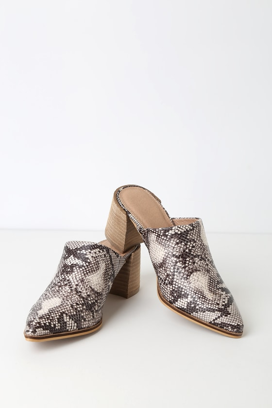 0d066f6f0b Trendy Snake Print Shoes - Snake Print Mules - Pointed Toe Mules