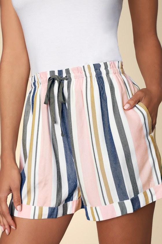 1b774a688 RVCA Jaywalk - Striped Shorts - High-Waisted Drawstring Shorts