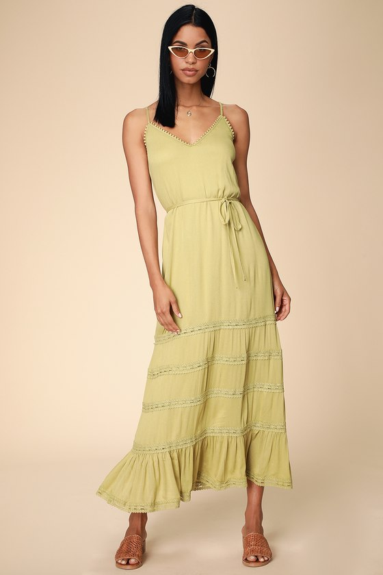 c14c912b0684 Washed Olive Green Swim Cover-Up - Maxi Swim Cover-Up - Cover-Up