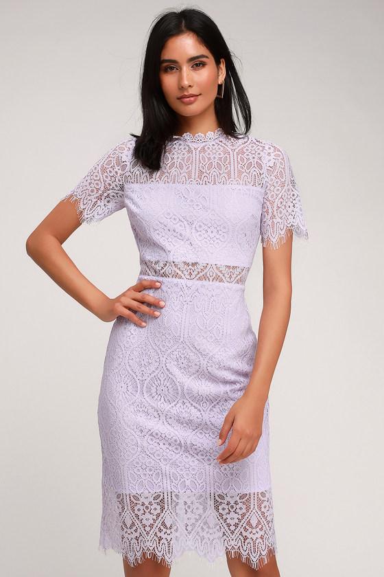Remarkable Lavender Lace Dress