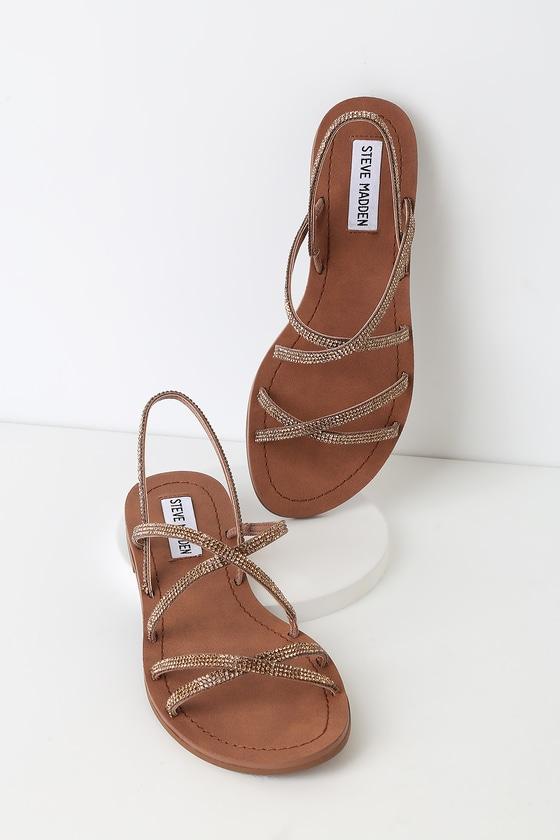 cde5abe7b21 Rita Bronze Multi Strappy Sandals
