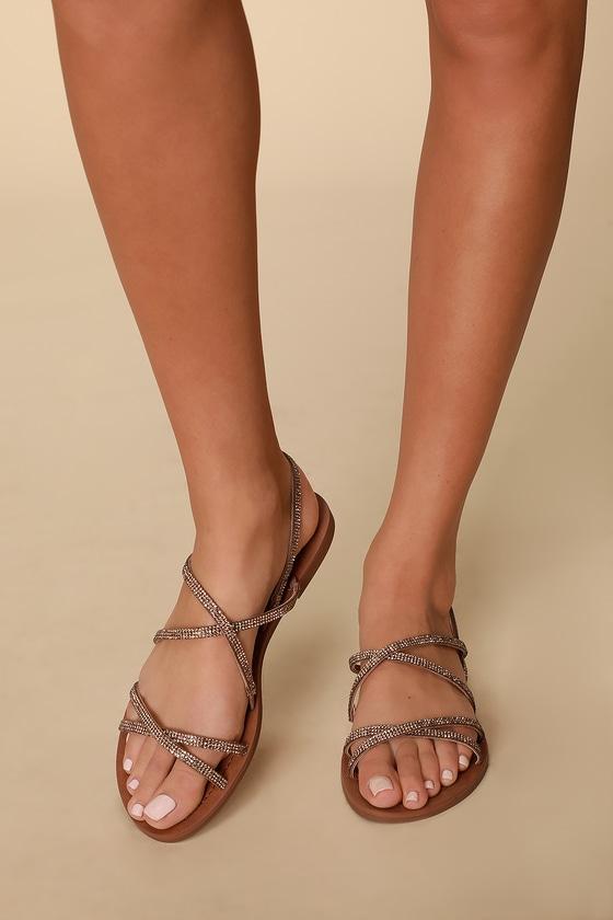 d7bbc36fbb0 Rita Bronze Multi Strappy Sandals