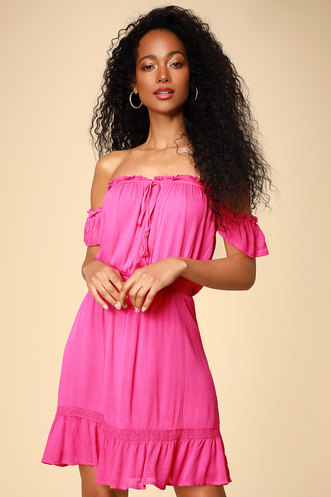 9194c32e83e Find a Cute Off-Shoulder Casual Dress at a Great Price