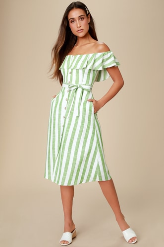 875766657baa Cute Green Dresses | Casual, Formal, Date Night & More at Lulus