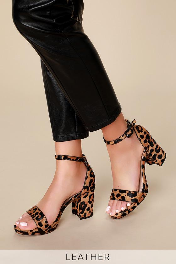 Steve Madden Vino Heels - Leopard Print