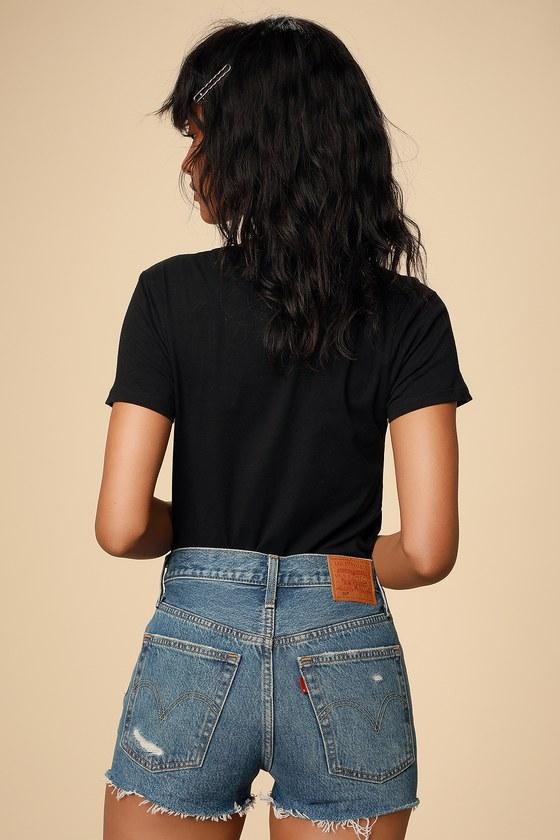 8513e06cc374 Levi's 501 Mid-Rise Shorts - Medium Wash Shorts - Cutoff Shorts