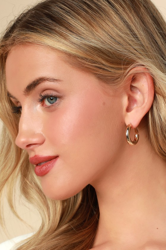 Tantalizing Gold Hoop Earrings by Lulus