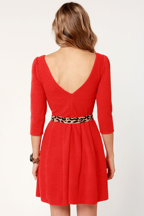 Darling Deneuve Orange Red Dress at Lulus.com!