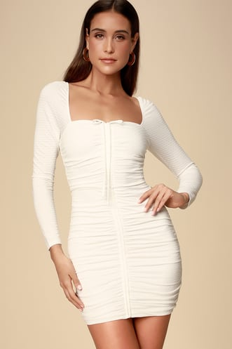 c6dd19dbd Buy a Trendy Long Sleeve Dress and Look Hot on Cool Days ...