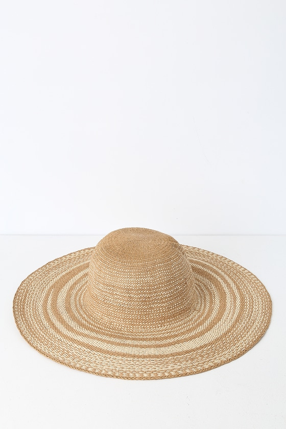 4fc440b5 Cute Beige and Ivory Hat - Sun Hat - Straw Hat - Floppy Hat