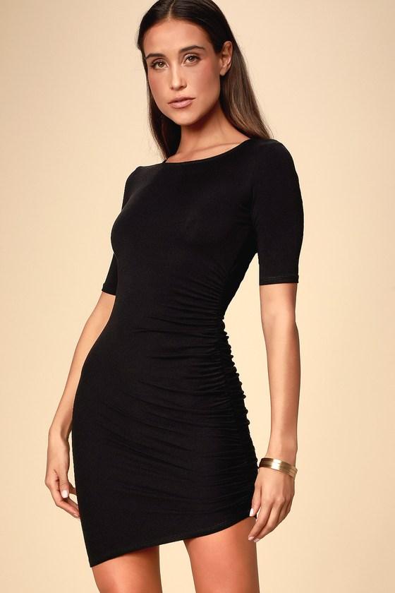 d15f0c77fe Chic Black Dress - Bodycon Dress - Jersey Knit Dress - LBD