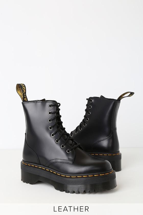 132ad6328f954 Jadon Black Leather 8-Eye Platform Boot
