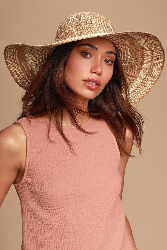 75dd77859abf7 Cute Beige and Ivory Hat - Sun Hat - Straw Hat - Floppy Hat