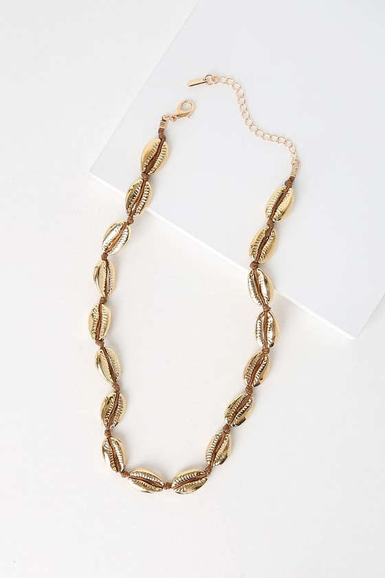 814424cfc9bf0 Had Me At Aloha Gold Cowrie Shell Choker Necklace