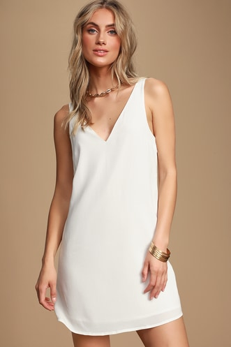 64e895a6e Height of Style White Sleeveless Shift Dress