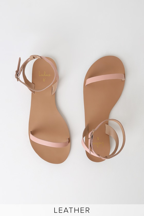 e22e36ee0f8a3 Lulus Colette - Blush Nappa Leather Sandals - Ankle Strap Sandals