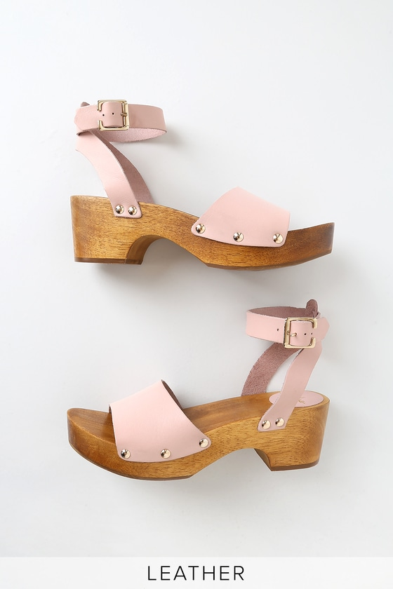 Leather Open Toe Sandals Willy Vachetta Blush Clog rBxoedCW