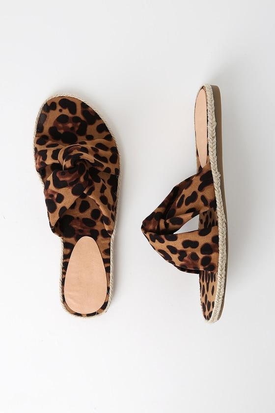 1fd872f8487c Chic Leopard Sandals - Slide Sandals - Espadrille Sandals