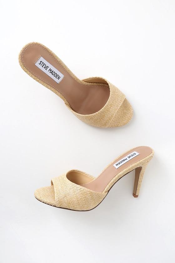 Natural Heel High Sandals Raffia Erin LUMGSzqVjp