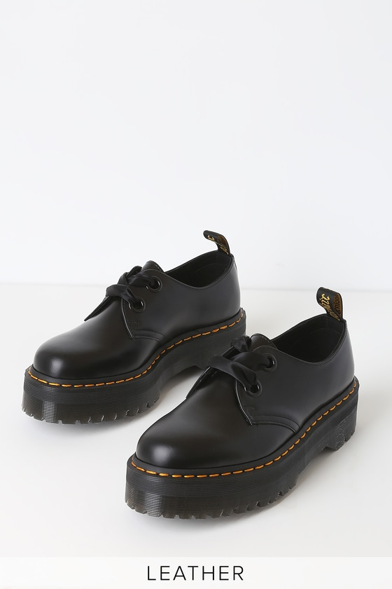 9d16c7d0c Dr. Martens Holly - Black Buttero Leather Boots - Ankle Boots